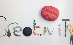 Creativity spelt out using household objects